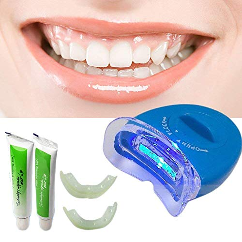 Twiclo White Light Teeth Whitening System Tooth Polisher Whitener Stain Remover with LED Light Luma Smile Rubber Cups