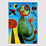 Kunstdruck Poster Bild von Joan Miro - Les Echelles En Rou De Feu 50 x 70 cm ohne Rahmen