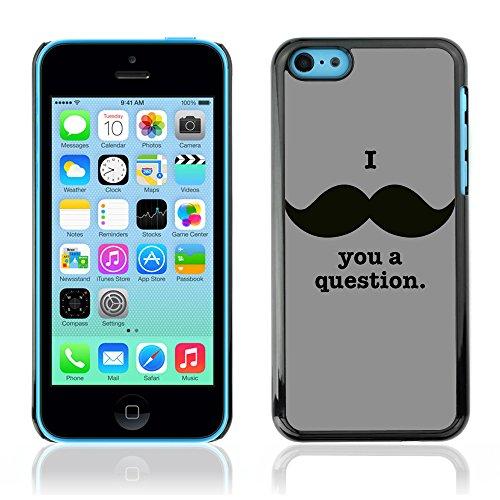 Graphic4You Mustache Schnurrbart Lustig Design Harte Hülle Case Tasche Schutzhülle für Apple iPhone 5C Design #2