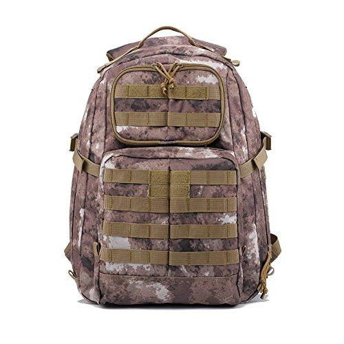 Imagen de yakeda® paquete senderismo bolsa de deporte al aire libre del paquete de campamento camuflaje impermeable camping senderismo trekking bolsa exterior  militares escalada   a88033 desert camouflage