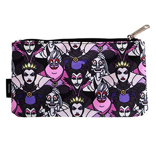 Disney Villains Kosmetiktasche Make-up Beutel Maleficent Ursula Loungefly 20,5x12cm schwarz bunt