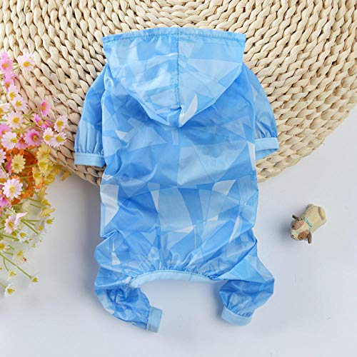 3 Legged Hunde Kostüm - Dog Sun Protection Clothing 2018 Summer New Thin Section Four-Legged Teddy Dog   Clothes Bomei Puppies pet Clothing@Sky Blue_S (Recommended 3-4 kg)