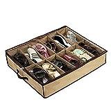 DishyKooker Rangement à Chaussures Pliable pour 12 Paires de Chaussures (L x l x H) 66 x 57 x 14 cm