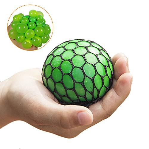 Junyee Splat Ball, Anti-Stress-Ball Grape Ball, Squeeze Reliever Spielzeug(Zufällige Farbe)