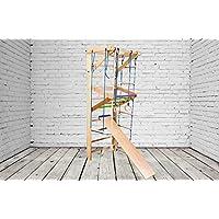 ¡Construcción robusta! Zona de juegos de madera para interior SP-03-220 Escalera sueca Complejo deportivo de gimnasia