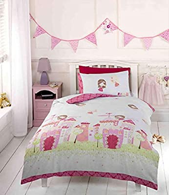 Fairy Castle Toddler Bedding with Fairy Wall Stickers - inexpensive UK light shop.