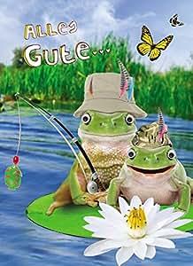 Geburtstag Humor Grußkarte Googlies Wackelaugen Alles Gute