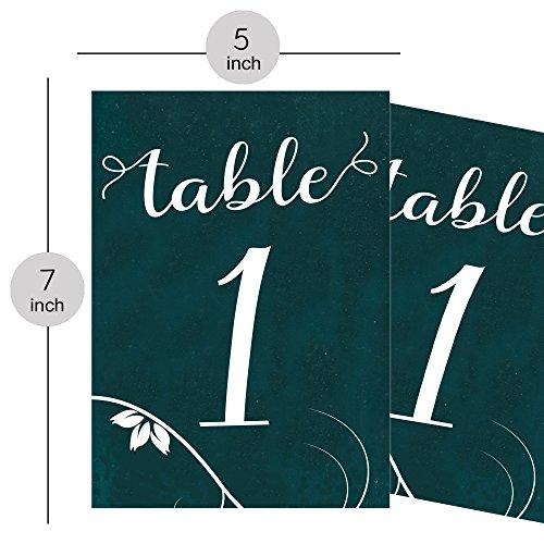 PrintValue Papiertisch Zahlen Home Decor Jahrestag Dekoration Gefälligkeiten Zeichen Natürliche Farbe Catering Empfang 5 x 7 Zoll (Empfang Organisation)