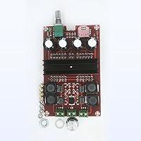 Anyutai Placa de amplificador digital, 2x100W XH-M190 TPA3116 D2 Placa de amplificador de audio digital de 2 canales DC 12V-24V