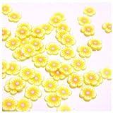 20 Fimo Scheiben Blumen # 7 (FM-B7)