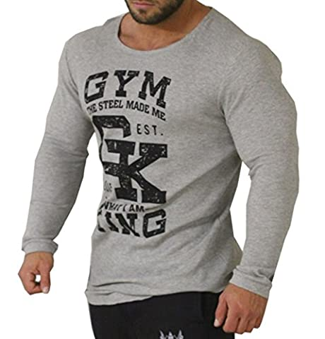 Gym King Long Shaped Longsleeve Bodybuilding Pullover Warm Up Top