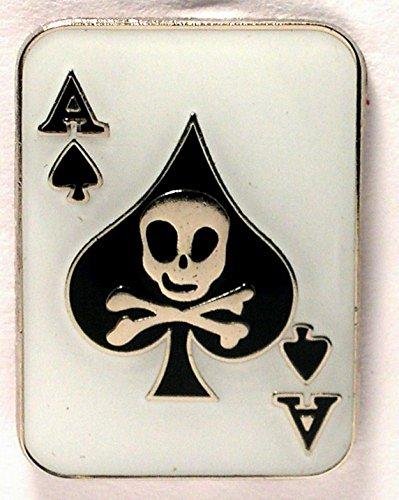 Pin de metal esmaltado, diseño de carta de póquer as de picas
