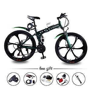 51h6h6MPLML. SS300 KVIONE E9 26 '' Mountain Bike per Bici da Uomo e da Donna Pieghevole con sospensioni e Cambio a 21 velocità