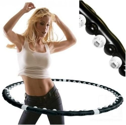 professional-fitness-weighted-magnetic-workout-hula-hoop-massage-abs-exercise-uk