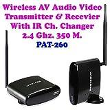 DivineXt 2.4 GHz. 350M. Wireless AV. Audio Video Transmitter Receiver Kit For TV, Projector, CCTV & STB (Set Top Box)