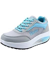 Zapatos deportes casual para mujer,Sonnena Zapatos de elevación de malla de mujer de moda Fondo suave Zapatos Rocking Sneakers