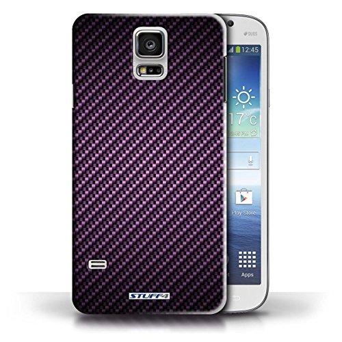 Hülle Case für Samsung Galaxy S5/SV / Lila Entwurf / Kohlenstoff-Faser-Muster Collection Lila