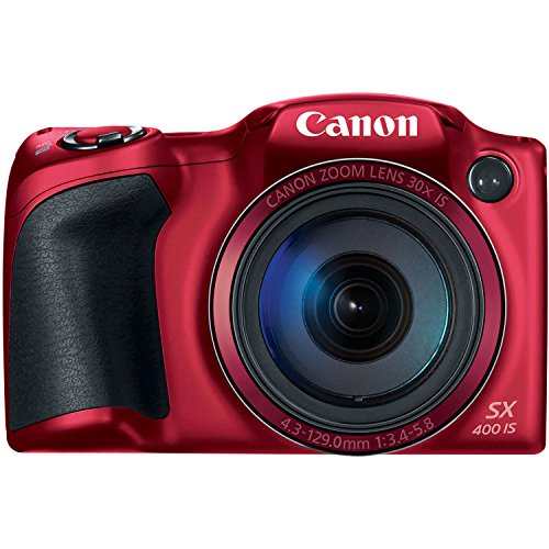 Canon Powershot SX400 IS 16.0 MP Point and Shoot Camera (Red)