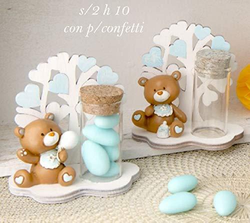 4 pezzi tom orso orsetto celeste albero della vita con portaconfetti