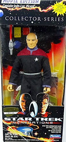 "Star Trek 9"" Inch Figur Captain Jean-Luc Picard aus Star Trek Generations Movie Edition von Playmates"