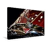 Calvendo Premium Textil-Leinwand 45 cm x 30 cm Quer, Kühlerfigur Alvis | Wandbild, Bild auf Keilrahmen, Fertigbild auf Echter Leinwand, Leinwanddruck Mobilitaet Mobilitaet