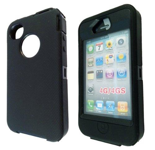 Iphone 4 4S workmen builder style coque résistante aux chocs-defender-sHock coque de protection en silicone et caoutchouc et plastique