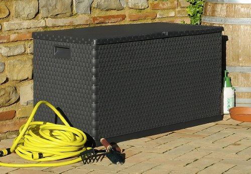 Toomax Kissenbox Multibox Rattan 420, Schwarz -