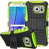 Samsung Galaxy S7 Edge Outdoor Hülle Case in Grün Extra Schutz, Robuste Galaxy S7 Edge Schutzhülle Handyhülle Cover Silikonhülle Rückschale