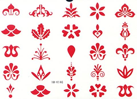 SPESTYLE new release fashionable hot selling tattoo stickers different red flowers totem designs