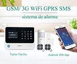 ERAY S2 Alarmas para Casa WiFi + gsm/ 3G, Antirrobo, Inalámbrico, App Gratuita, Servicio + Garantía, 100 Zonas, Voz y LCD Pantalla en Castellano, Accesorios y Pilas Incluidas, 433MHz