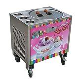 Kolice 50cm (50,8cm) singolo Round Ice pan + 3serbatoi fried Ice Cream roll Machine Instant Fry Ice Cream Machine roll macchina auto scongelamento e PCB di Smart ai Temp. Controller