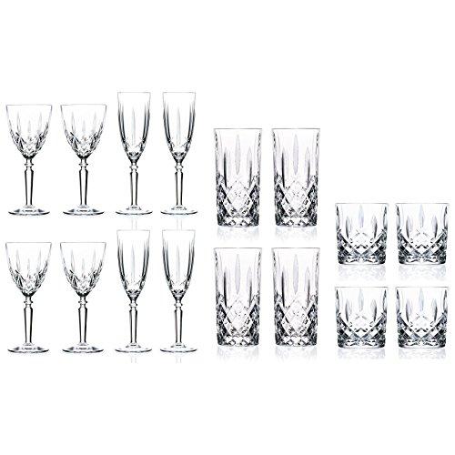 RCR Orchestra Wine x 4 + Champagnerflöten 200 ml x4 + Tumbler x 4 + Hiball x 4 Crystal Water Tumbler