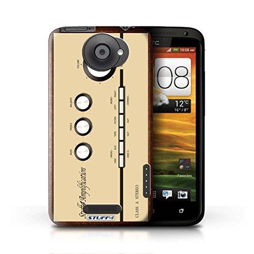 Kobalt® Imprimé Etui / Coque pour HTC One X / Boombox conception / Série Retro Tech Amp/Amplificateur