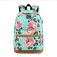 Yankuoo Fashion Printed Backpack Bag Series Mountaineering Bag Suitable for Youth School Backpack Floral Girl Junior High School Canvas Shoulder Bag (Color : C, Size : One Size)