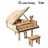 Rolife 3D-Holzbausatz Spielzeug Modellbaukasten für Kinder und Erwachseneo (Grand Piano)