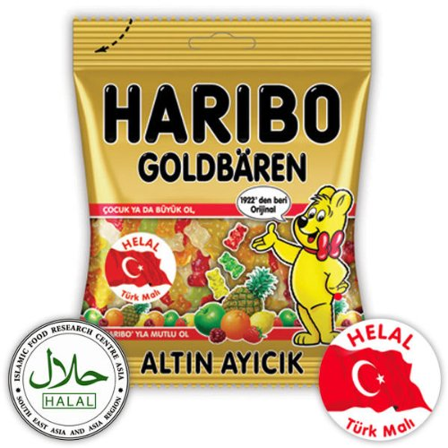 Haribo Goldbären / Ours d'or / Altin Ayicik, Helal / Halal, 100g