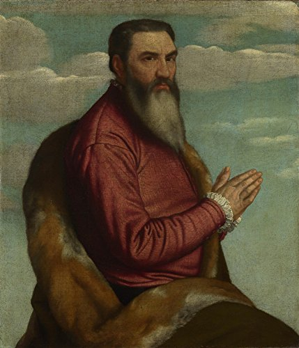 Das Museum Outlet-Alessandro Moretto-betend Mann mit langem Bart, gespannte Leinwand Galerie verpackt. 29,7x 41,9cm
