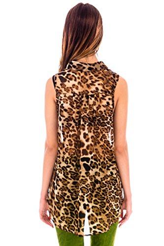 Ça Va Bien Fashion - Canotta -  donna Leopard
