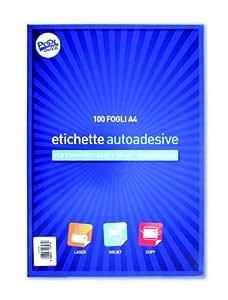 Fogli Adesivi Formato A4 - 100 Fogli Adesivi senza margine
