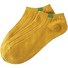 Kinlene 1 par unisex cómodos raya de algodón zapatillas calcetines cortos tobillo calcetines