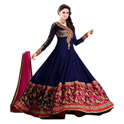 Florence Women's Net Salwar Suit Dupatta Material (SB-3465)