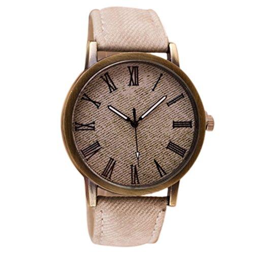 Reloje Hombre,Xinan Banda Cuero Retro del Reloj Voga Vaquero Analógico Reloj de Cuarzo (Blanco)