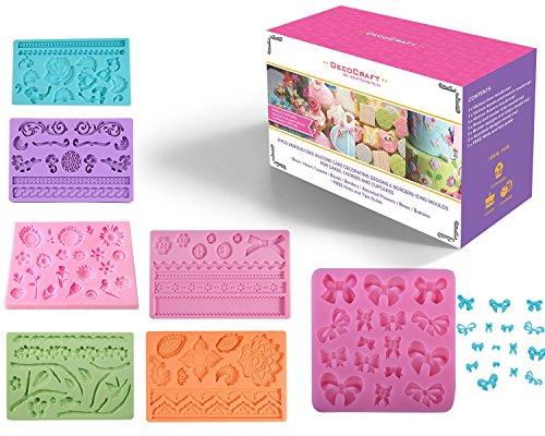 DecoCraft-8-pezzi-comprendenti-vari-stampi-di-silicone-per-la-decorazione-di-torte-e-creazione-di-bordi-di-glassa-for-dolci-biscotti-e-cupcakes-A-forma-di-rosa-cuore-foglie-perle-bordi-assortimento-di
