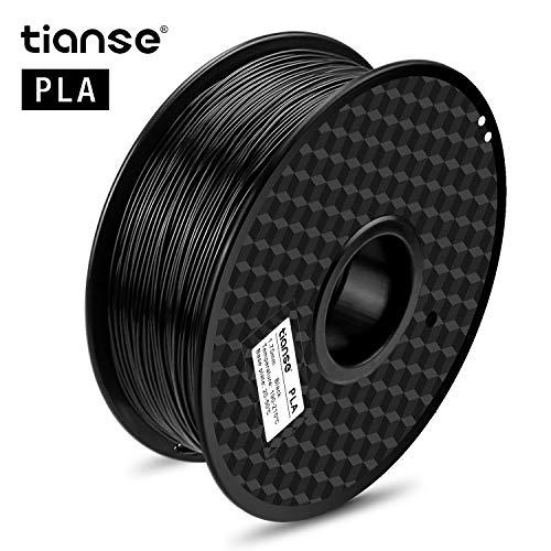 Filamento TIANSE PLA per stampante 3D / Pluma 3d, 1 kg 1,75 mm(negro)