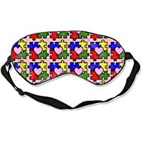 Eyes Mask Comfort Autism Awareness Puzzle Pieces Heart Shade Sleep Goggles for Sleep Contoured Eye Masks for Sleeping... preisvergleich bei billige-tabletten.eu