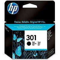 HP 301 Schwarz Original Druckerpatrone für HP Deskjet 1000, 1010, 3000, 1050, 1050A, 1510, 2050, 2050A, 2510, 2540, 3050, 3050A, 3055A; HP Officejet 2620, 4630; HP ENVY 4500, 4504, 5530