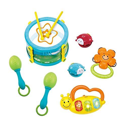 winfun-baby-kinder-trommel-rassel-keyboard-tamburin-spielzeug-5er-set