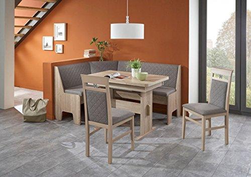 Dreams4Home Eckbankgruppe U0027Montreal IIIu0027, Essgruppe 165 X 125 X 86 Cm, 2  Stühle, Modern, Eckbank, Küchentisch, Wangentisch,4 Teilig Küche, ...