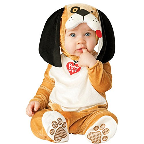 chen Kleinkinder Animal Kostüm Halloween Party Jumpsuit Winter Strampler Hund 80cm (Fett Halloween Kostüme Für Hunde)