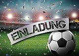 12 Einladungskarten zum Kindergeburtstag Fußball Party / Einladungen zum Geburtstag